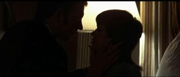 """Klute"" -- featuring the silhouettes of Jane Fonda and Donald Sutherland."