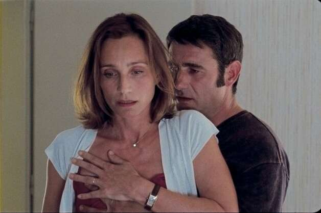 "Kristin Scott Thomas and Sergy Lopez in ""Leaving."""