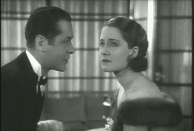 """Private Lives"" -- right before the big kiss.  With Robert Montgomery and Norma Shearer, this is a movie about the sexiness of familiarity, a rare topic in movies.  He is telling her that there is not a ""single particle"" of her that he doesn't ""know, remember and want."""