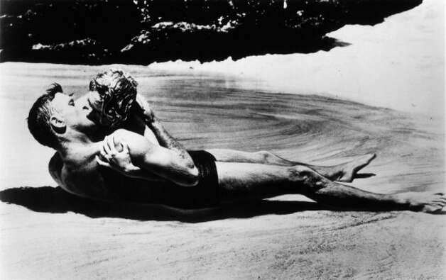 """From Here to Eternity"" -- another classic, with Deborah Kerr and Burt Lancaster.  She's the one on top. (HO / REUTERS)"