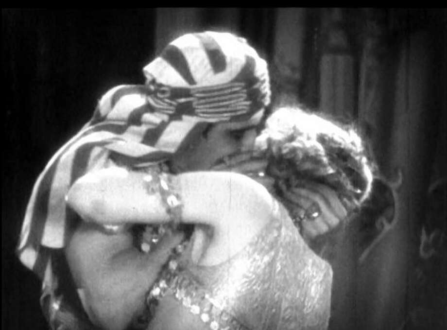 Valentino and Vilma Banky in SON OF THE SHEIK.