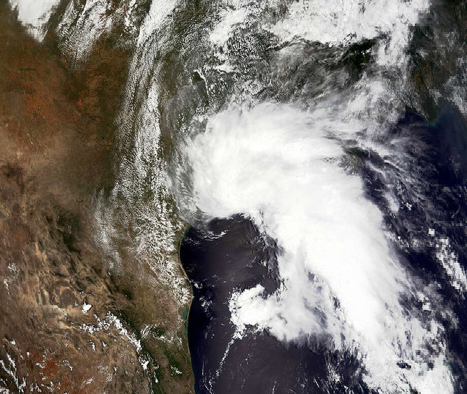 Tropical Storm Allison at peak intensity on June 5 at 1715 UTC.