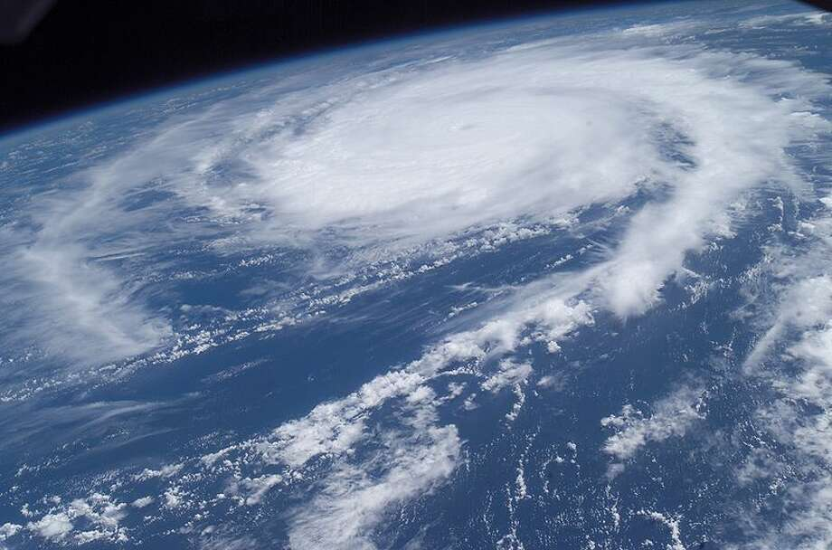 This photo of Hurricane Frances was taken by Astronaut Mike Fincke aboard the International Space Station as he flew 230 statute miles above the storm at about 9 a.m. CDT Friday, Aug. 27, 2004. At the time, Frances was located 820 miles east of the Lesser Antilles in the Atlantic Ocean, moving west-northwest at 10 miles per hour, with maximum sustained winds of 105 miles per hour. Fincke, the NASA ISS Science Officer and Flight Engineer, and Expedition 9 Commander Gennady Padalka are in the fifth month of a six-month flight aboard the Station. Photo: NASA