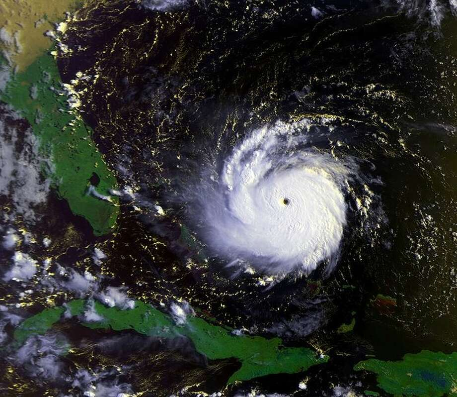 Hurricane Andrew on August 23 at approximately 1231 UTC. This image was produced from data from NOAA-12, provided by NOAA. Photo: NOAA
