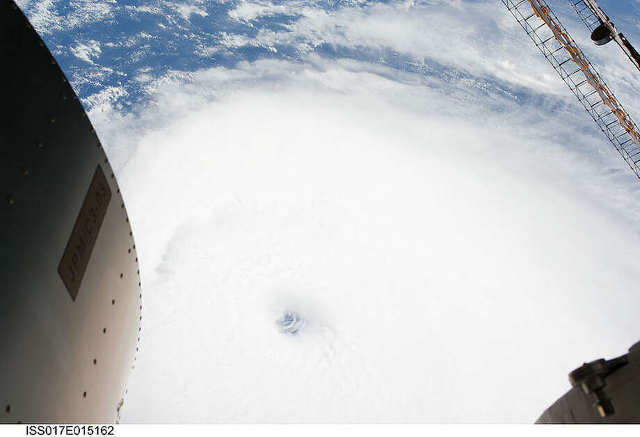 Hurricane Ike from the International Space Station. Photo: NASA
