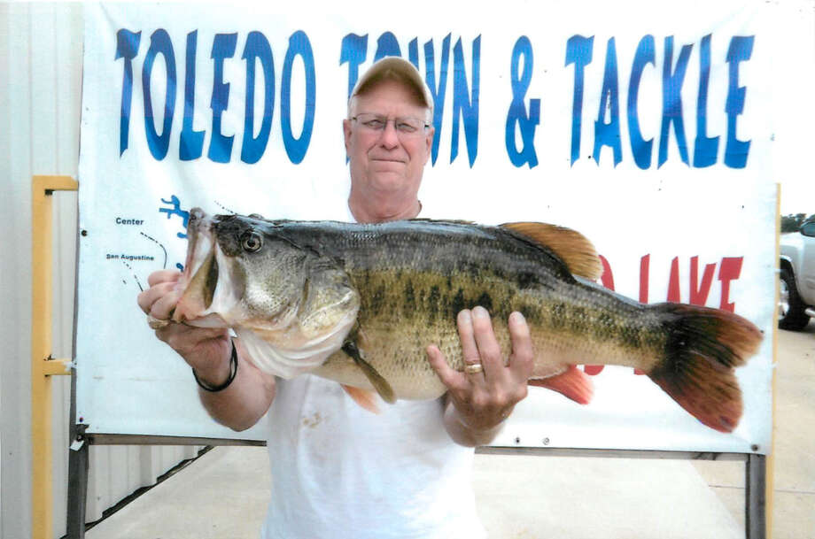 Ceyril Paulus caught the biggest bass of his life July 10th on Toledo Bend.  It weighed 14.125 lbs