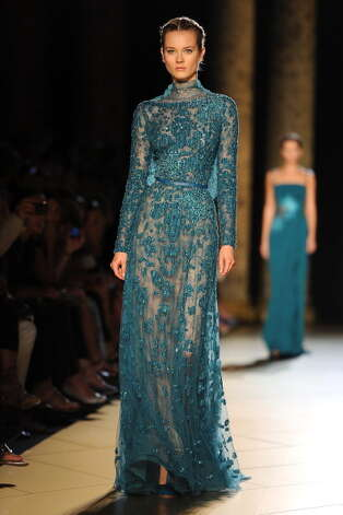 PARIS, FRANCE - JULY 04:  A model walks the runway the Elie Saab Haute-Couture show as part of Paris Fashion Week Fall / Winter 2012/13 at Pavillon Cambon Capucines on July 4, 2012 in Paris, France. Photo: Pascal Le Segretain, Getty Images / 2012 Getty Images