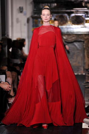 PARIS, FRANCE - JULY 04:  A model walks the runway the Valentino Haute-Couture show as part of Paris Fashion Week Fall / Winter 2012/13 at Hotel Salomon de Rothschild on July 4, 2012 in Paris, France. Photo: Pascal Le Segretain, Getty Images / 2012 Getty Images