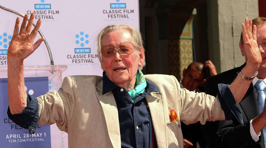 HOLLYWOOD, CA - APRIL 30: Actor Peter O'Toole speaks during a Hand and Footprints Ceremony presented by the TCM Classic Film Festival at Grauman's Chinese Theater on April 30, 2011 in Hollywood, California.  (Photo by Frederick M. Brown/Getty Images) *** Local Caption *** Peter O'Toole; Photo: Getty Images