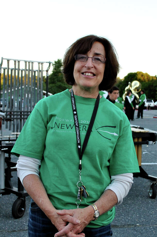 In this file photo, Susan Marks , Superintendent of Schools, shows support at Norwalk High School's Marching Bears celebration of the ending of 'Band Camp' and their annual Spirit Night event at Andrews Field in Norwalk on August 27,2010. Photo: Lauren Stevens, ST / Connecticut Post Freelance
