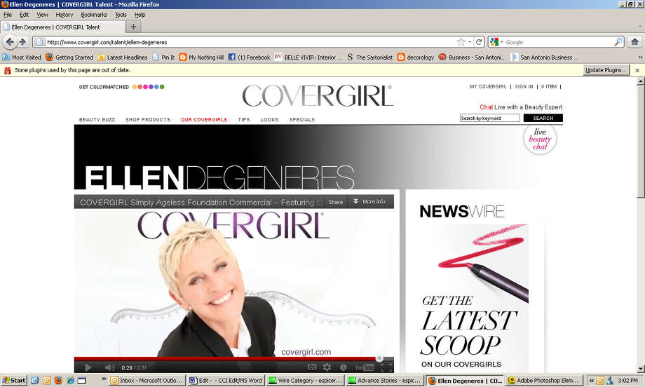 Increasingly, companies are booking older models to court older consumers. Ellen Degeneres for Cover Girl. / Screengrab