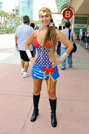 SAN DIEGO, CA - JULY 11:  Lana Powers dressed as Superwoman on preview night of 2012 Comic-Con at the San Diego Convention Center on July 11, 2012 in San Diego, California.  (Photo by Jerod Harris/Getty Images) (Getty Images)