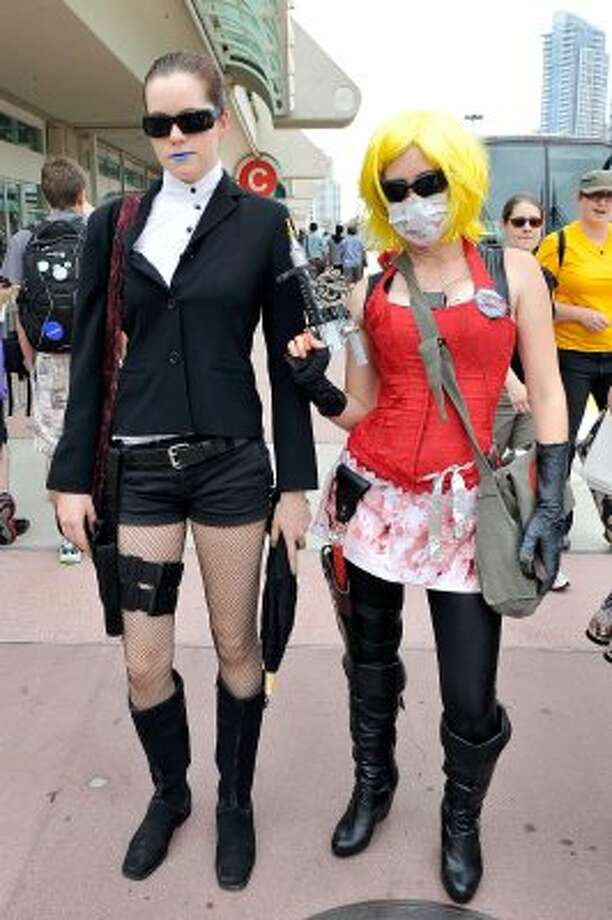 SAN DIEGO, CA - JULY 11:  Aley Mclelan Emily Sperling dress up for 2012 Comic-Con at the San Diego Convention Center on July 11, 2012 in San Diego, California.  (Photo by Jerod Harris/Getty Images) (Getty Images)