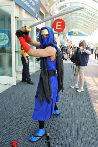 SAN DIEGO, CA - JULY 11:  Andrew Valenzuela of San Diego, dresses in cosplay for 2012 Comic-Con at the San Diego Convention Center on July 11, 2012 in San Diego, California.  (Photo by Jerod Harris/Getty Images) (Getty Images)