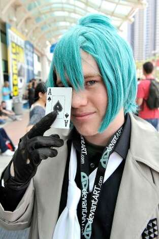 SAN DIEGO, CA - JULY 11:  Hunter Forcier dresses in cosplay for 2012 Comic-Con at the San Diego Convention Center on July 11, 2012 in San Diego, California.  (Photo by Jerod Harris/Getty Images) (Getty Images)