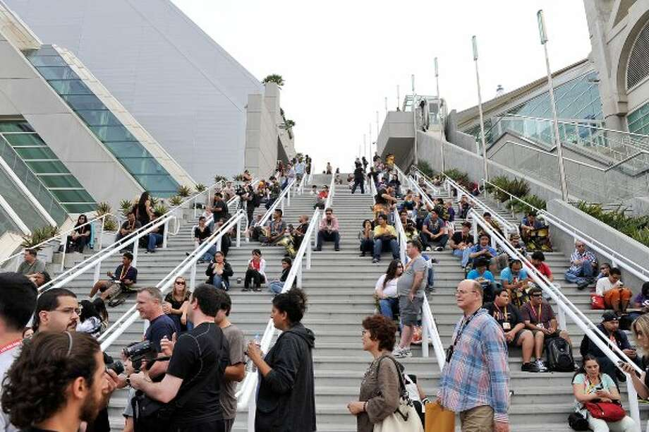SAN DIEGO, CA - JULY 11:  A general view of atmosphere as San Diego prepares for 2012 Comic-Con at the San Diego Convention Center on July 11, 2012 in San Diego, California.  (Photo by Jerod Harris/Getty Images) (Getty Images)