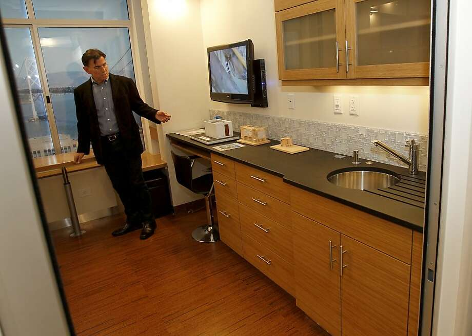 Developer Patrick Kennedy In The Living Area Of His Smarte Unit Has