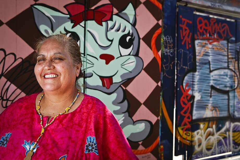 Virginia Ramos aka the Tamale Lady stands in Clarion Alley on Wednesday, July 6, 2011 in San Francisco, Calif. Photo: Russell Yip, The Chronicle