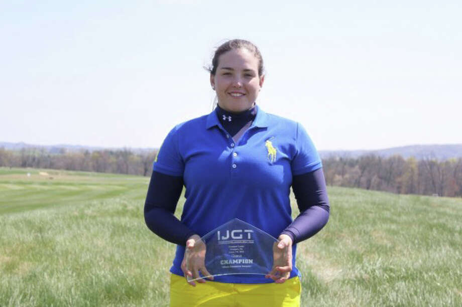 Camilla Vik, a Greenwich Academy junior, won the International Junior Golf Tour at Hershey Links on April 8, finishing the two-day tournament with a 159. Photo: Contributed Photo