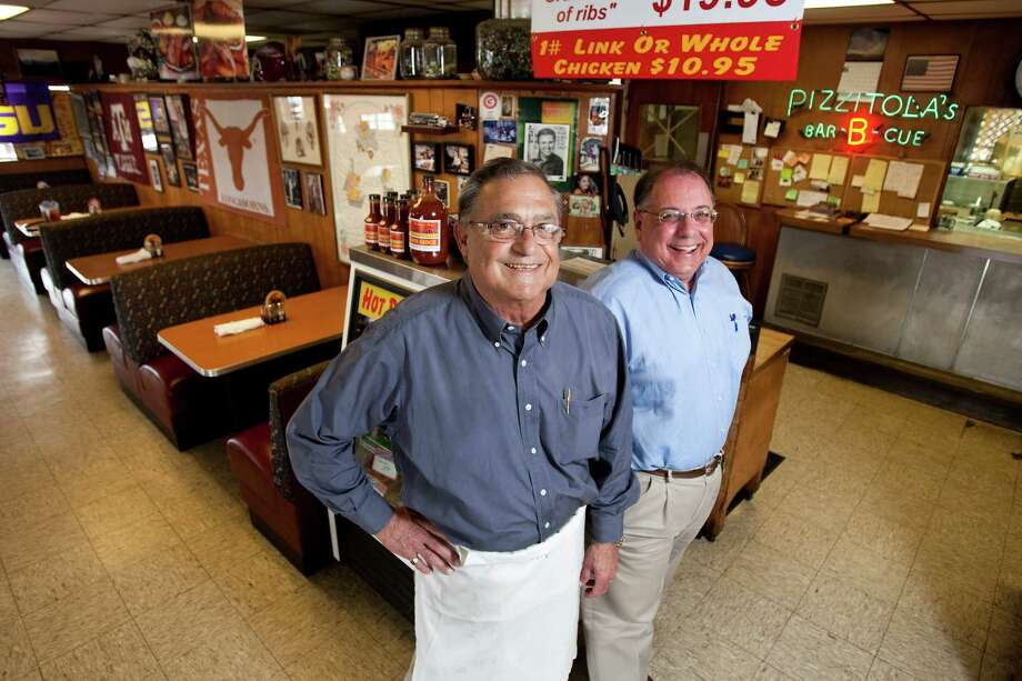 Pizzitola's Bar-B-Cue owners Jerry Pizzitola, left and Tim Taylor have traveled the country searching for ideas. Photo: Nick De La Torre / © 2011  Houston Chronicle