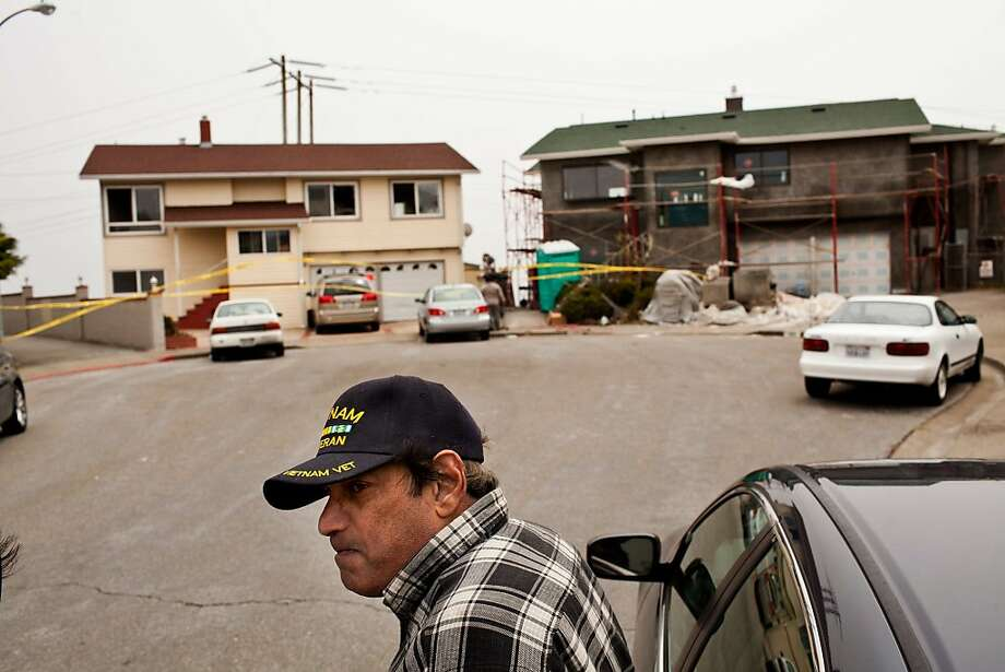 The San Bruno Fire Department responded to a 2-alarm fire around 8:45 Friday morning at 100 Lake Drive in San Bruno that killed a 2-year-old boy and sent another occupant to the hospital in San Bruno, Calif., July 13, 2012. Asgar Jhinnu, a neighbor and friend of the couple, said the retired couple that lived their frequently baby sat their grandchildren. 