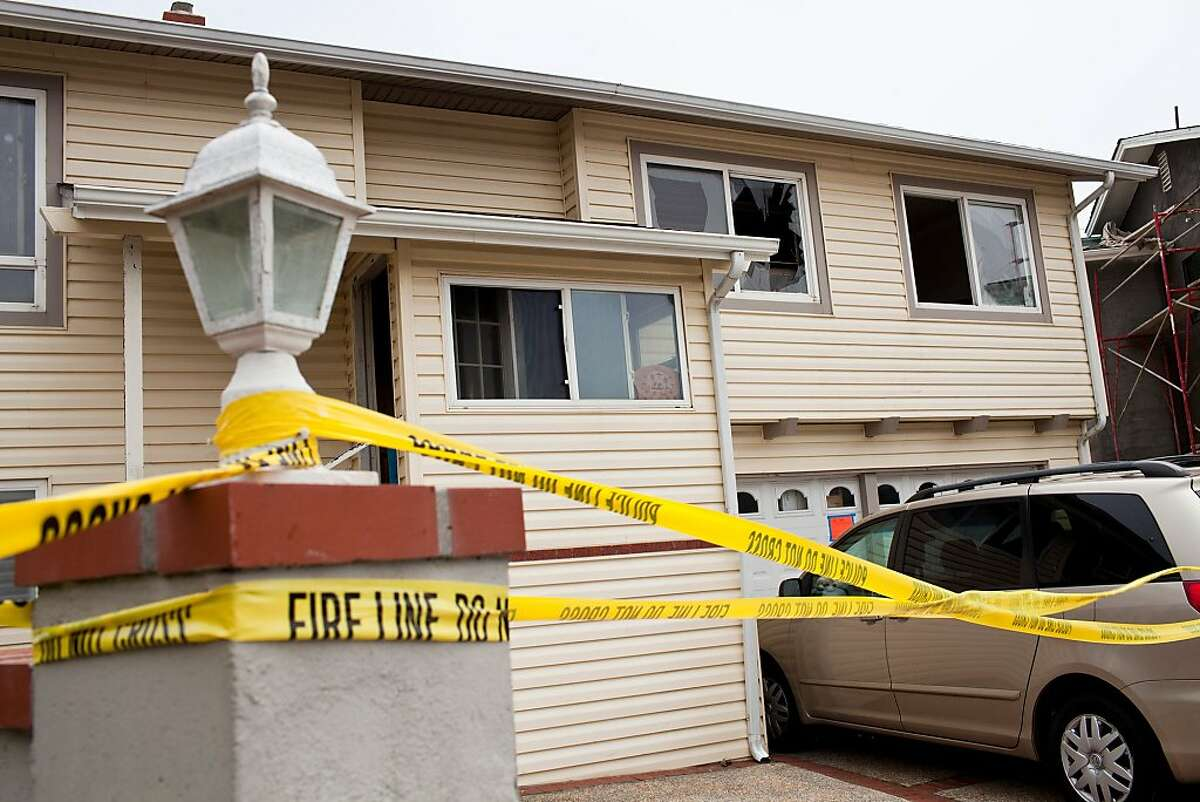 The San Bruno Fire Department responded to a 2-alarm fire around 8:45 Friday morning at 100 Lake Drive in San Bruno that killed a 2-year-old boy and sent another occupant to the hospital in San Bruno, Calif., July 13, 2012. The retired couple that lives there were babysitting their grandson when the fire, believed to have started from a shrine candle in a hallway closet, spread through the upstairs and took the boy's life. Jason Henry/Special to The Chronicle