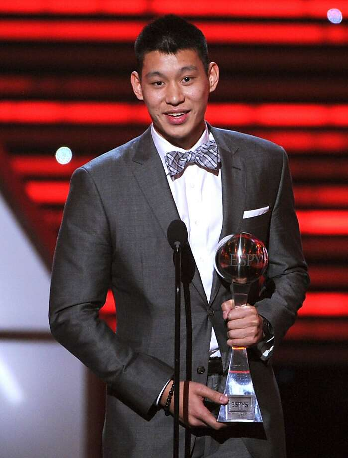 LOS ANGELES, CA - JULY 11:  NBA player Jeremy Lin of the New York Knicks accepts the Best Breakthrough Athlete award onstage during the 2012 ESPY Awards at Nokia Theatre L.A. Live on July 11, 2012 in Los Angeles, California.  (Photo by Kevin Winter/Getty Images) Photo: Kevin Winter, Getty Images