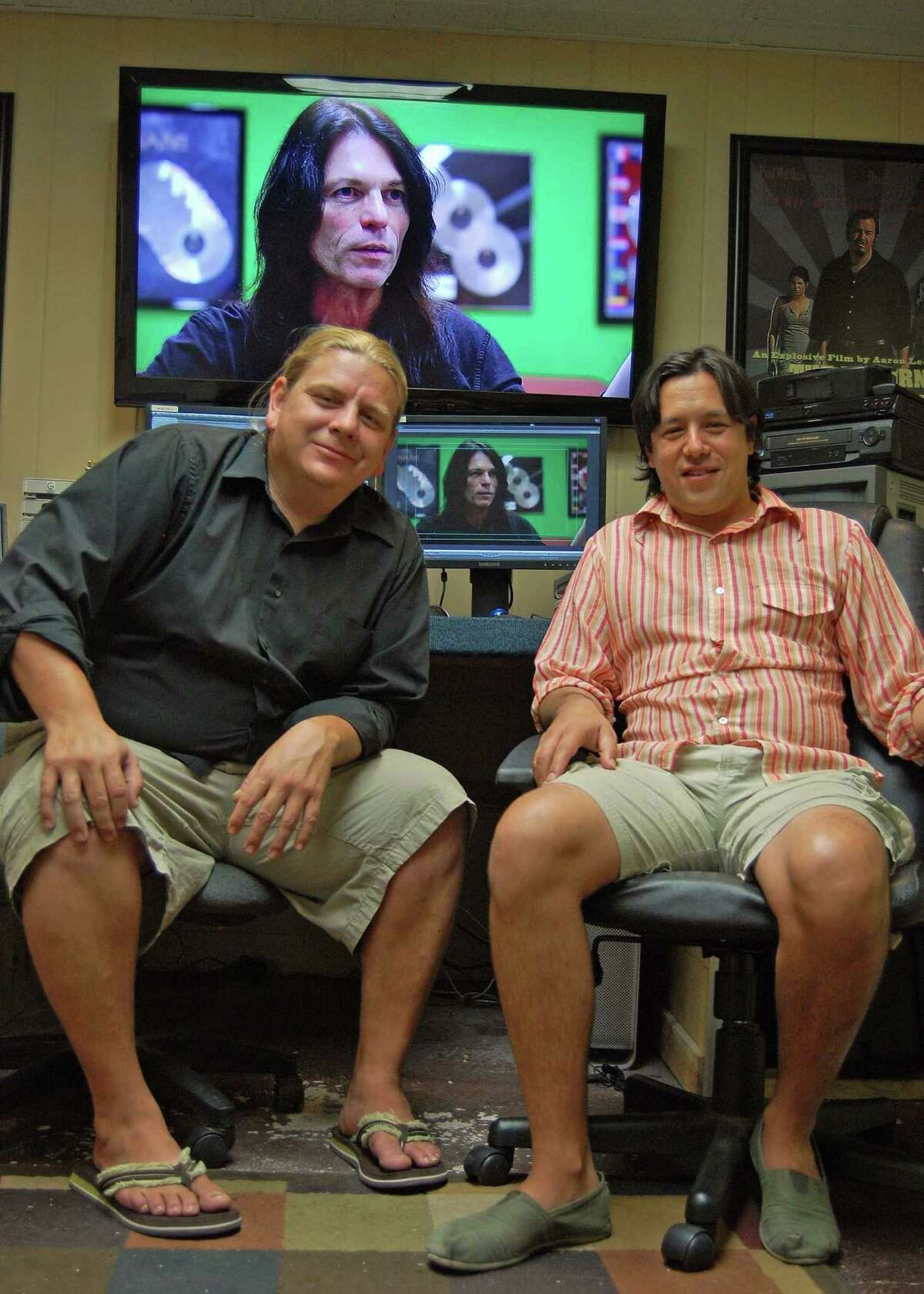 Aaron Lee Lopez (left) and Brandon Keropian Olmos co-founded Mutt Productions.