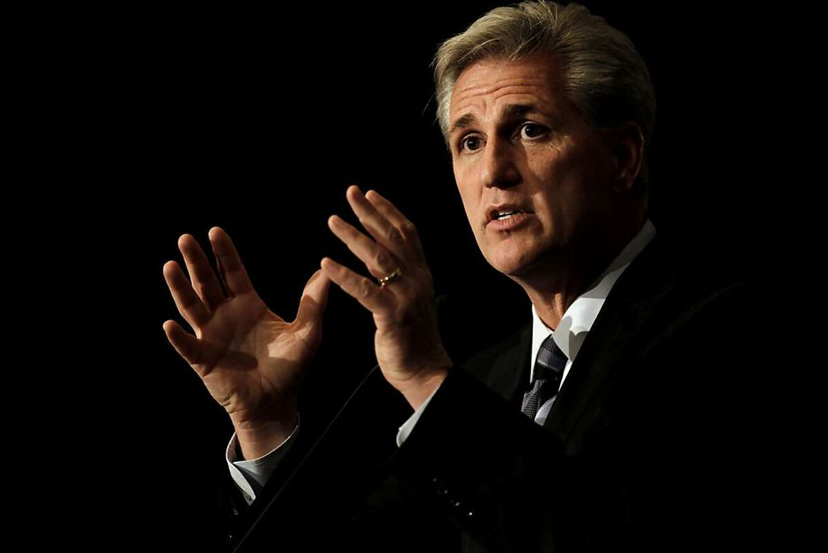 Congressman and majority whip, Kevin McCarthy, speaks during the opening day of the California Republic Party State Convention on Friday Feb. 24, 2012, in Burlingame, Ca.