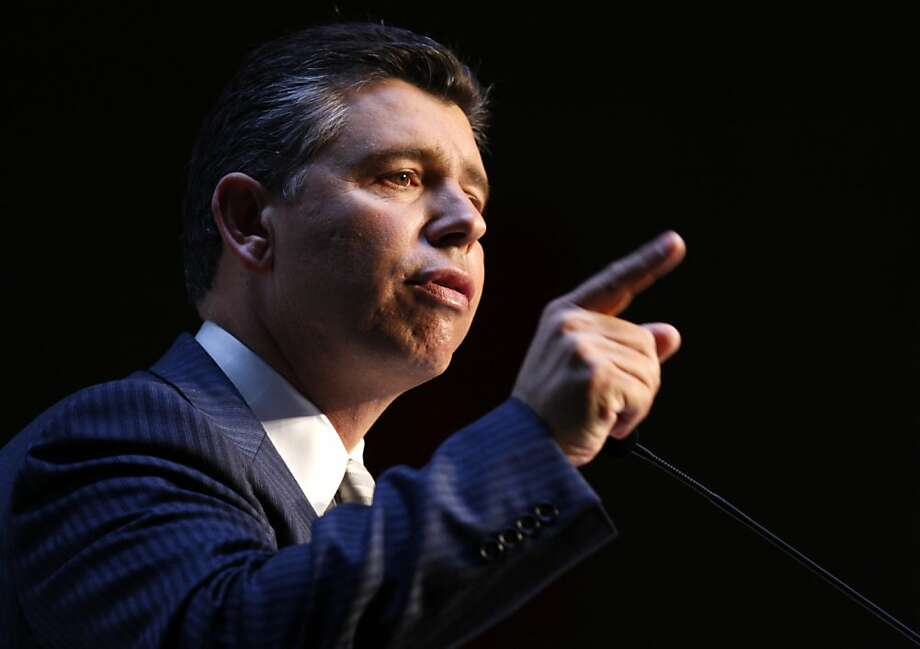 Abel Maldonado speaks at the California Republican Party Convention in Santa Clara, Calif., on Saturday, March 13, 2010. Maldonado is a Republican candidate for the state Lieutenant Governor's office. Photo: Paul Chinn, The Chronicle