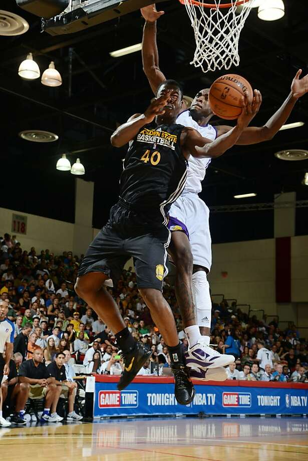 LAS VEGAS, NV - JULY 13: Harrison Barnes #40 of the Golden State Warriors shoots versus the Los Angeles Lakers during NBA Summer League on July 13, 2012 at Cox Pavilion in Las Vegas, Nevada. NOTE TO USER: User expressly acknowledges and agrees that, by downloading and/or using this Photograph, user is consenting to the terms and conditions of the Getty Images License Agreement. Mandatory Copyright Notice: Copyright 2012 NBAE (Photo by Garrett W. Ellwood/NBAE via Getty Images) Photo: Garrett Ellwood, NBAE/Getty Images