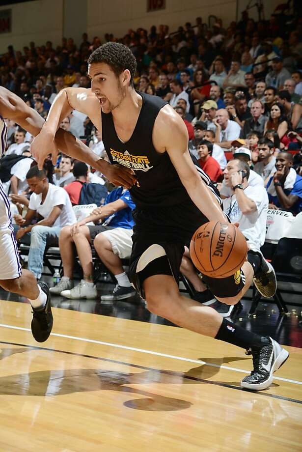 LAS VEGAS, NV - JULY 13: Klay Thompson #11 of the Golden State Warriors dribbles versus the Los Angeles Lakers during NBA Summer League on July 13, 2012 at Cox Pavilion in Las Vegas, Nevada. NOTE TO USER: User expressly acknowledges and agrees that, by downloading and/or using this Photograph, user is consenting to the terms and conditions of the Getty Images License Agreement. Mandatory Copyright Notice: Copyright 2012 NBAE (Photo by Garrett W. Ellwood/NBAE via Getty Images) Photo: Garrett Ellwood, NBAE/Getty Images