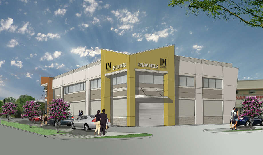 This rendering shows the new Meals on Wheels building that Interfaith Ministries plans to build in Midtown. The group also purchased the PrimeWay Federal Credit Union building for its new offices. Photo: NewQuest Properties