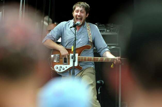 Bass player Zachary Carothers performs with Portugal. The Man at Camp Bisco on Friday, July 13, 2012, at Indian Lookout Country Club in Mariaville, N.Y. (Cindy Schultz / Times Union) Photo: Cindy Schultz / 00018447A