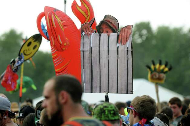 Concert goers dance with colorful markers at Camp Bisco on Friday, July 13, 2012, at Indian Lookout Country Club in Mariaville, N.Y. (Cindy Schultz / Times Union) Photo: Cindy Schultz / 00018447A