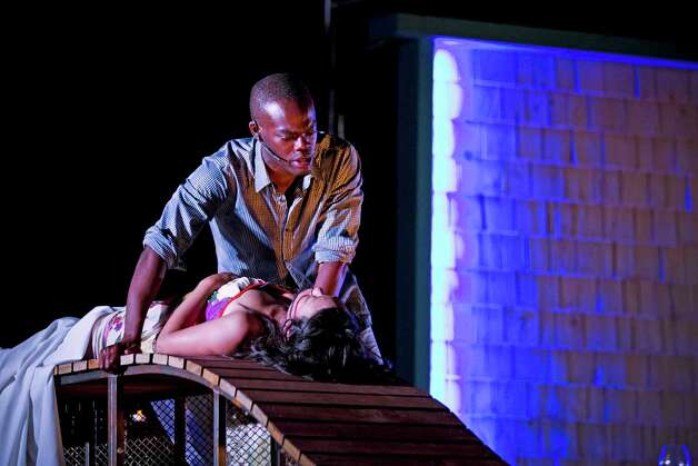 "Will Jackson Harper and Ali Ahn star in Shakespeare on the Sounds' ""Romeo and Juliet,"" which opens in Rowayton July 18. Photo: Chandler Simms"