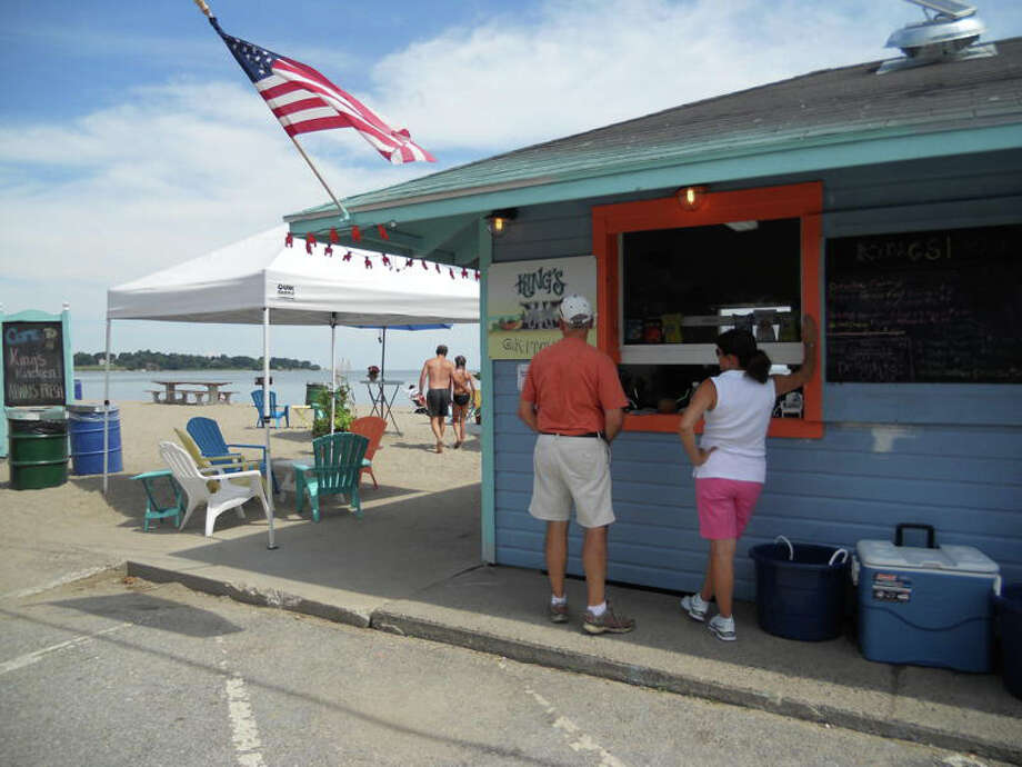 The new King's Kitchen at Southport Beach is serving up a diverse menu featuring foods not often associated with typical beach concessions. Photo: Patti Woods / Fairfield Citizen contributed