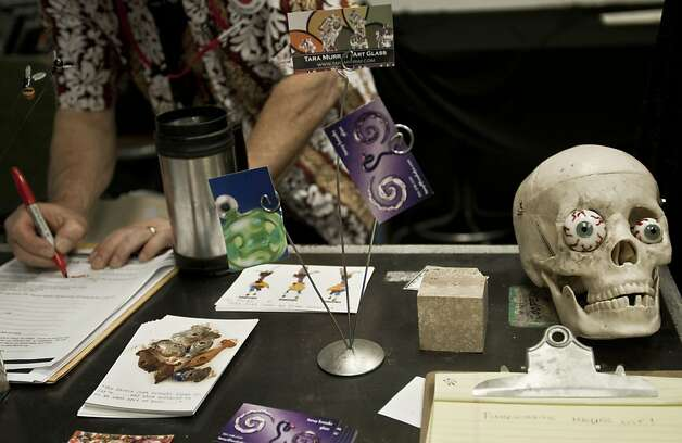 One art of skull is displayed on the table at The Crucible on Saturday, July 14, 2012 in Oakland, Calif. Photo: Yue Wu, The Chronicle