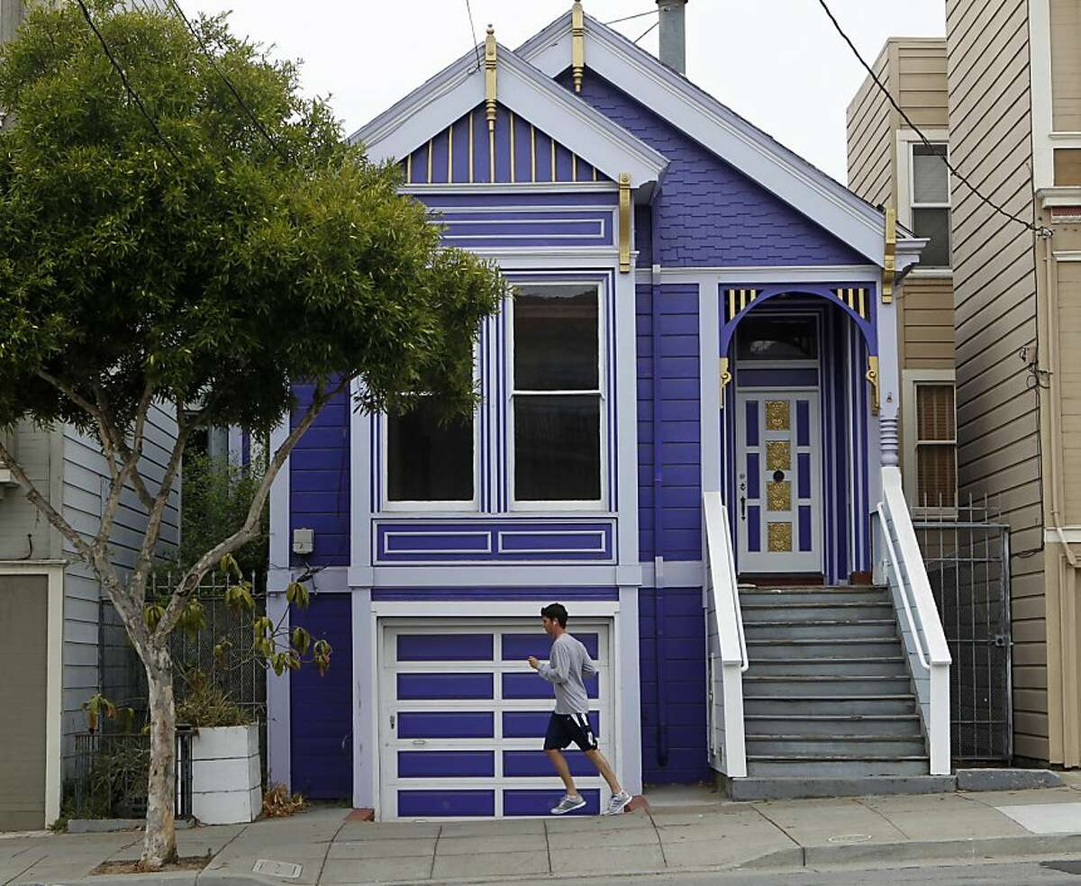 A Noe Valley home, seen in San Francisco, Calif. on Saturday, July 14, 2012, sold for well over the asking price after the property was foreclosed.