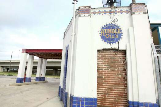 "Tagged ""the last Humble Oil station"" in Texas in the book ""San Antonio Uncovered,"" this humble little edifice, with its still-bright blue and orange tiles and faded red roof, continues to inspire. Read More Photo: Julysa Sosa / SAN ANTONIO EXPRESS-NEWS"