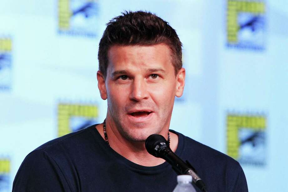 "Actor David Boreanaz speaks at ""Bones"" panel discussion during Comic-Con International 2012 at the San Diego Convention Center  in San Diego, Calif., on July 13, 2012. Photo: Alexandra Wyman, Getty Images / 2012 Getty Images"