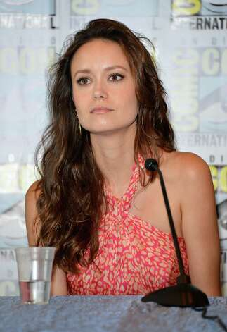 "SAN DIEGO, CA - JULY 13: Summer Glau speaks onstage at the ""Firefly"" 10 Year Anniversary Reunion Press Conference during Comic-Con International 2012 held at the Hilton San Diego Bayfront Hotel on July 13, 2012 in San Diego, California. Photo: Frazer Harrison, Getty Images / 2012 Getty Images"