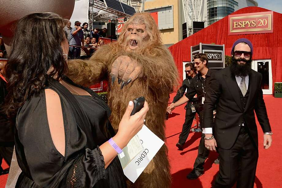 LOS ANGELES, CA - JULY 11:  San Francisco Giants Pitcher Brian Wilson and Sasquatch arrive at the 2012 ESPY Awards at Nokia Theatre L.A. Live on July 11, 2012 in Los Angeles, California.  (Photo by Jason Merritt/Getty Images) Photo: Jason Merritt, Getty Images