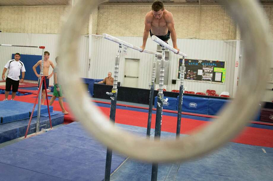 Gymnast Jonathan Horton trains at Cypress Academy of Gymnastics. Photo: Smiley N. Pool, Houston Chronicle / © 2012  Houston Chronicle