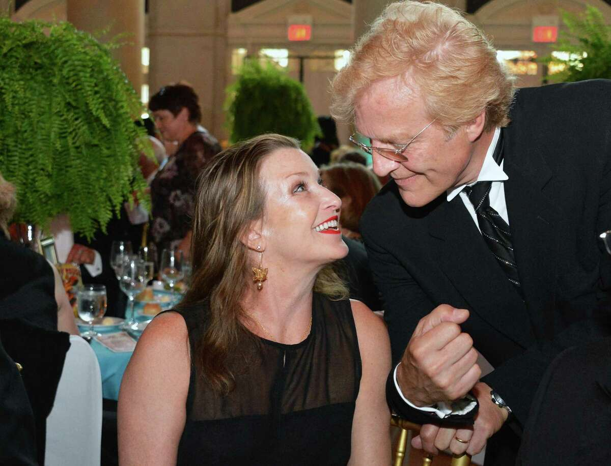 New York City Ballet Master in Chief Peter Martins with wife and former Balanchine ballerina Darci Kistler at the New York City Ballet Gala at the Saratoga Performing Arts Center in Saratoga Springs Saturday July 14, 2012. (John Carl D'Annibale / Times Union)