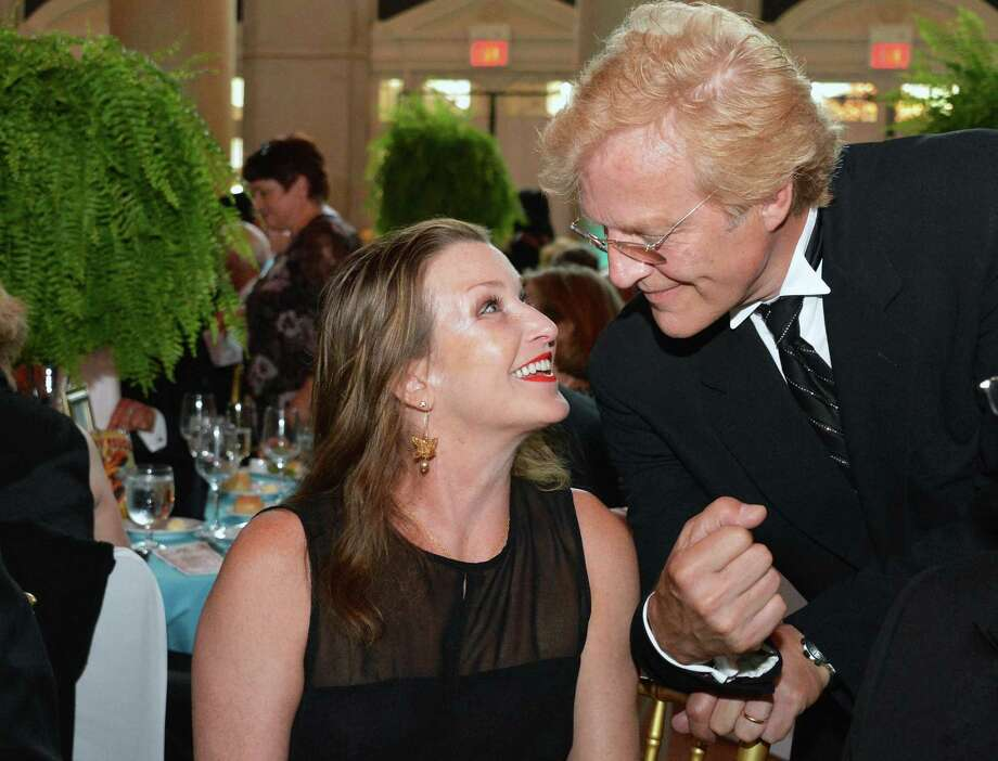 New York City Ballet Master in Chief Peter Martins with wife and former Balanchine ballerina Darci Kistler at the New York City Ballet Gala at the Saratoga Performing Arts Center in Saratoga Springs Saturday July 14, 2012.  (John Carl D'Annibale / Times Union) Photo: John Carl D'Annibale