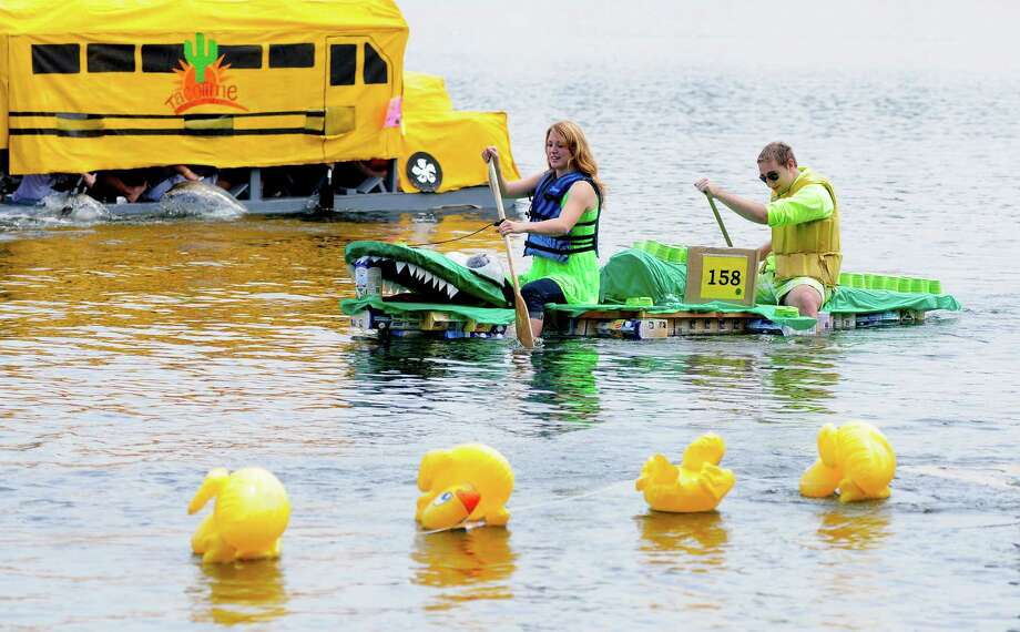 "An ""alligator"" passes by some tempting ""ducks."" Photo: LINDSEY WASSON / SEATTLEPI.COM"