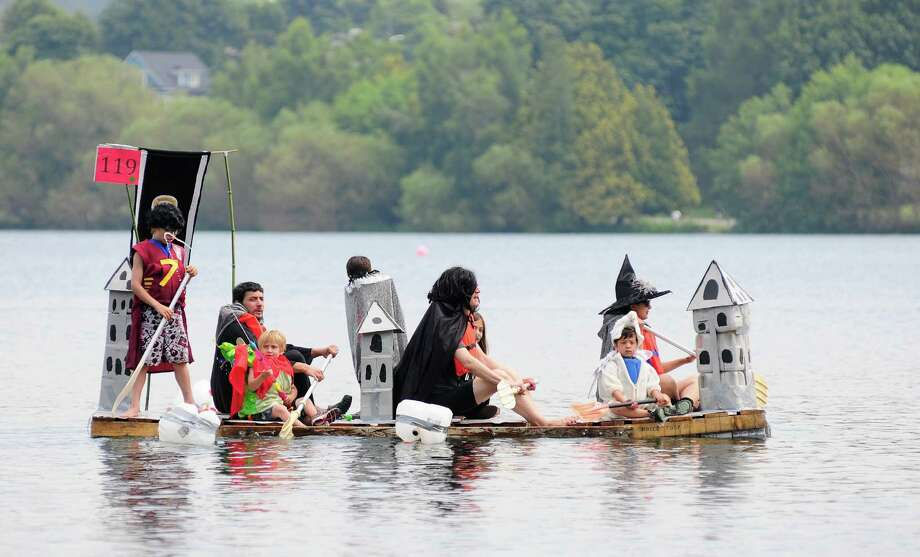 A Harry Potter-themed boat passes by. Photo: LINDSEY WASSON / SEATTLEPI.COM