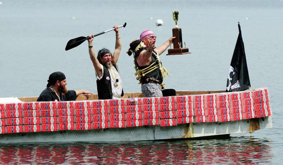 Seafair Pirates gloat after absconding with the Derby trophy. Photo: LINDSEY WASSON / SEATTLEPI.COM