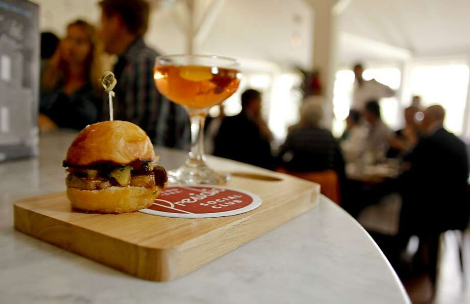 The Presidio Social Club is pulling foie gras sliders from the menu after a talk with the Presidio Trust. Photo: Michael Macor, The Chronicle